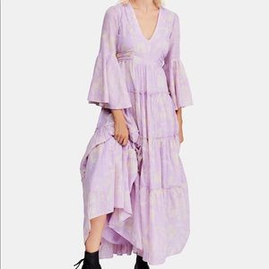 Free People Boho Lilac Flowy Dress Small
